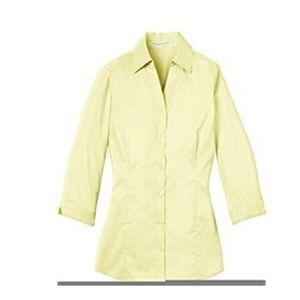 Port Authority Yellow 3/4 Sleeve Top